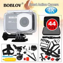 Boblov B1 4K 12MP HD 170degree 1080P 2.45″LCD Screen WIFI Sports Action Camera Camcorder DVR Waterproof +44pcs Accessories Kits