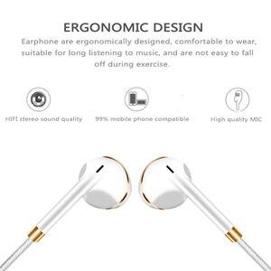 Image 5 - Оригинальные наушники M & J V5, запатентованные полувкладыши, стереонаушники, басовая гарнитура с микрофоном для телефона, MP3, ПК
