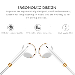 Image 5 - Original M&J V5 Earphone Patent Half In ear Headphone Stereo Earbuds Bass Headset with Microphone for Phone MP3 PC