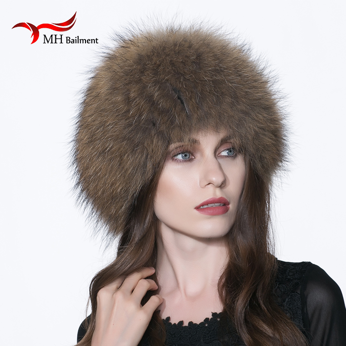 Real Fox Fur Knitted Hat Female 2017 New Winter Natural Silver Fox Fur Hat Warm Knitted Beanie Cap Fur Casual Beanies Hat H#74