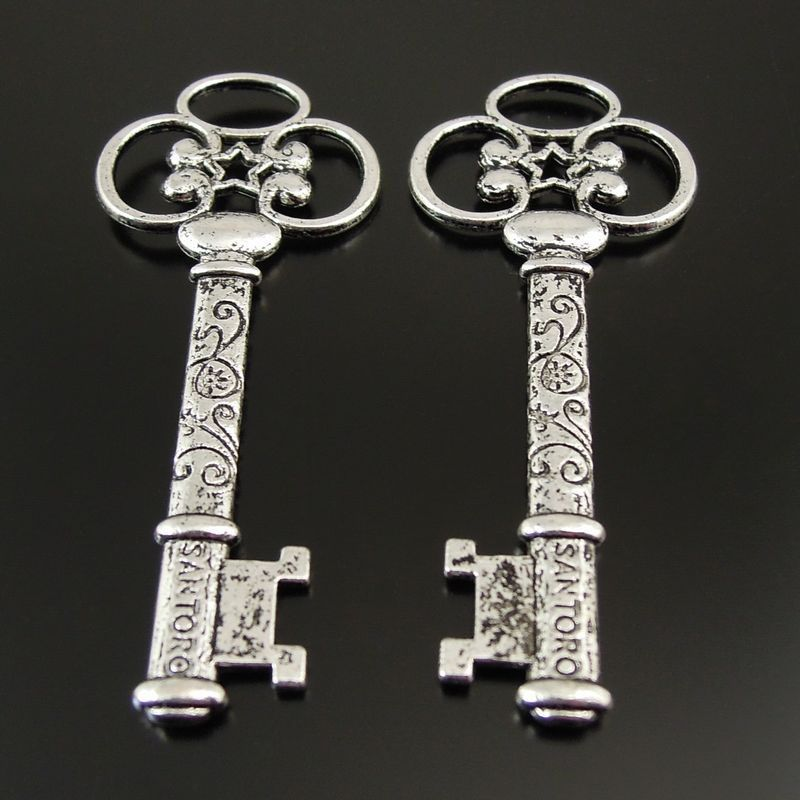 10PC Tibtan argent gratuit Menottes Charm Pendentif Pour À faire soi-même Boucles d/'oreilles//Bracelet Craft