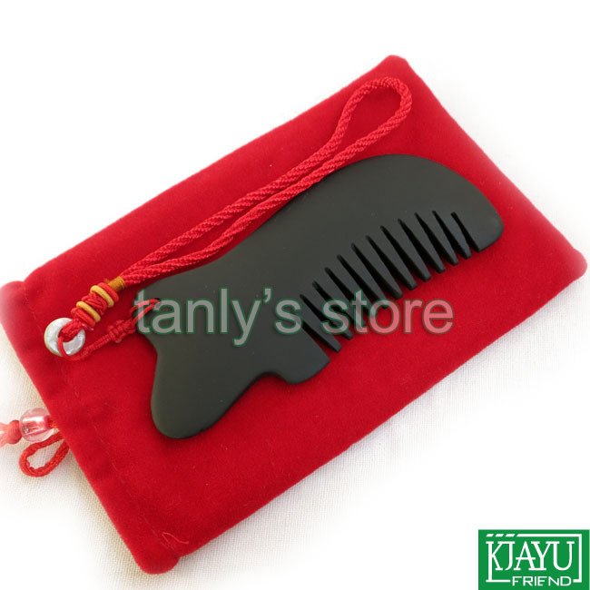 Gift gua sha chart bag Wholesale Retail Black Bian Stone Massage Guasha Comb health care product 120x50mm in Massage Relaxation from Beauty Health