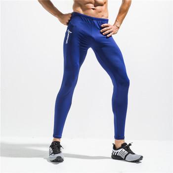 Wysokie elastyczne Fitness Skinny męska legginsy spodnie dresowe odzież męska spodnie dresowe mocno szczupła szybkie suche stałe czarne spodnie Pantalon tanie i dobre opinie Pełnej długości 111-1 gym pants 44-50 Lekki Suknem Mieszkanie Sznurek VECILEON spandex Akrylowe NONE Na co dzień black gray blue