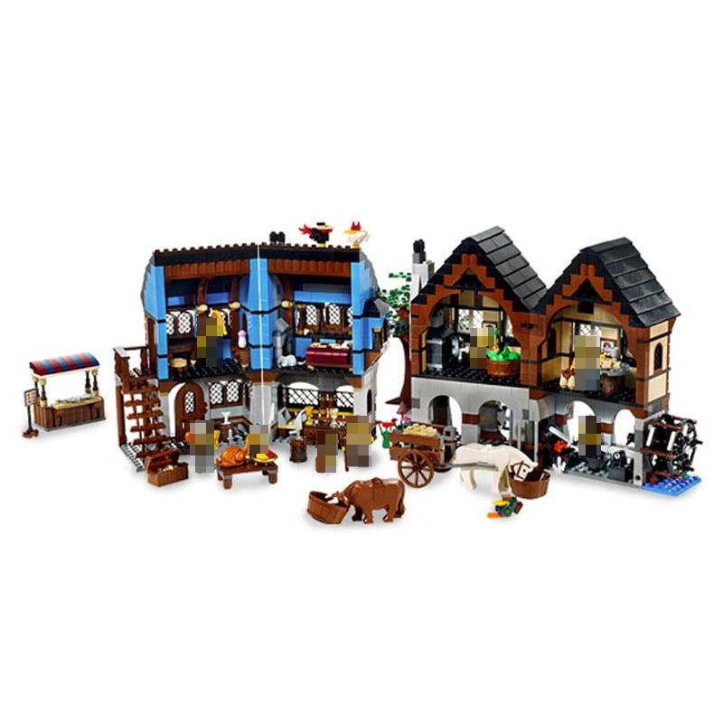 Compatible Legoe Castle Series 10193 Model 16011 1601pcs Medieval manor Castle building blocks bricks toys for children decool 3117 city creator 3 in 1 vacation getaways model building blocks enlighten diy figure toys for children compatible legoe