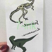 Fake-Tattoo-Sticker Skeleton Water-Transfer Temporary Tatoo Kids Fashion Dinosaur