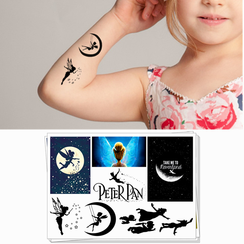 Children Temporary Tattoo Sticker Funny Cartoon Cosplay Novelty Gag Toys for Tinker Bell Peter Pan Fans Waterproof 2-3 Days X3Children Temporary Tattoo Sticker Funny Cartoon Cosplay Novelty Gag Toys for Tinker Bell Peter Pan Fans Waterproof 2-3 Days X3