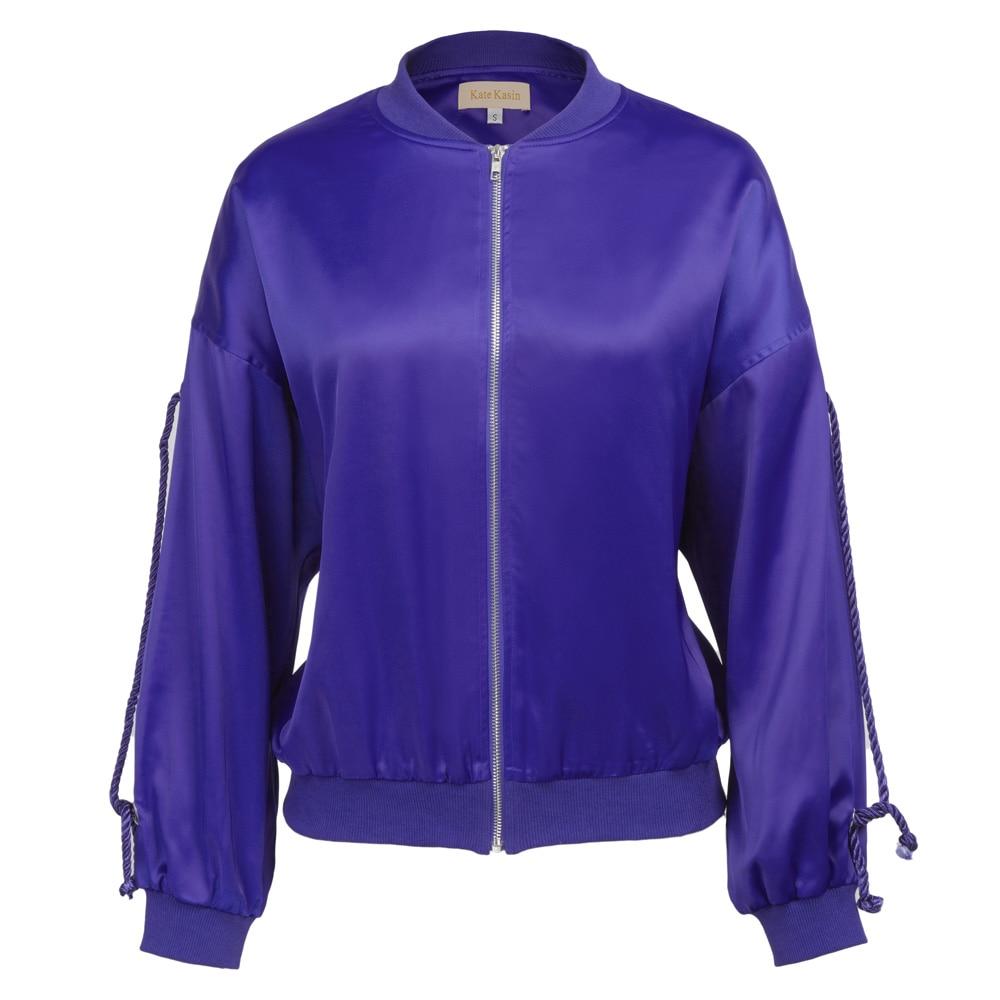 Autumn Military Jackets Coats Women 2017 New Casual Coat Black Blue Bomber Cool Basic Jackets Zipper Chaquetas Biker Outwear