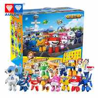 AULDEY 18pcs/set Big 15cm Super Wings High Quality Original TODD PAUL JEROME DONNIE ASTRA MIRA Deformation Action Figures Toys