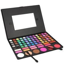 1SET 78 Colors Eye Shadow Cosmetic Make up Palette Lipgloss Mirror Blush Kit Set Long-Lasting Harmless Hot Selling
