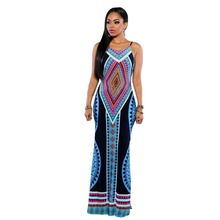 None Loose Robe Top Fashion Summer Maxi Dress Bodycon Plus Size Vestidos Sexy Sundress Backless Bandage Dashiki Boho Long