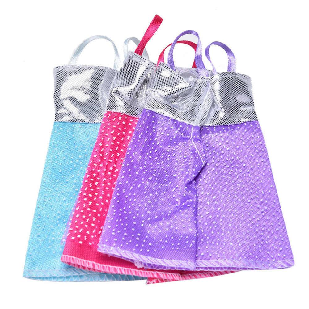 TOYZHIJIA/модное платье в горошек на лямках; милое элегантное платье для куклы Барби; платье из ткани; детская игрушка; подарок для девочки; игрушка; случайный цвет