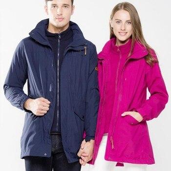 Hot Sale Winter Men Women Fleece Windbreaker 2 in 1 Thermal Lovers Jacket Outdoor Camping Hiking Climbing Ski Sportswear Coat