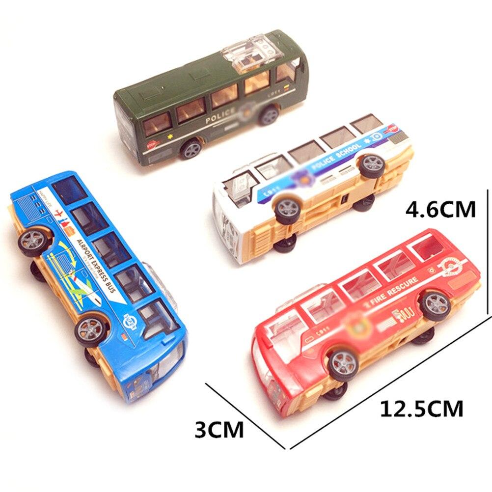 Cartoon Character Toys For Children Toddler Birthday Little Bus Children Miniature Toys Korean