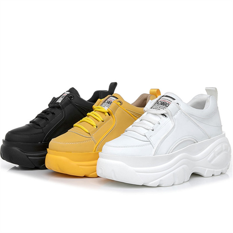 Ультралегкие женские кроссовки 7 C M 2019 новые весенне-осенние женские белые кроссовки на толстой подошве Модные женские повседневные туфли н...