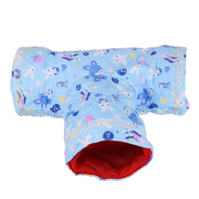 Hamster Toy Tunnel Small Pet Cartoon Tubes Hamster Toy Bed Cute Nest Spring Autumn for Rabbits Ferrets Guinea Pigs Small Puppies