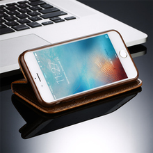 Leather Flip Phone Case For iPhone 7 Plus 6 6s Plus 5s 4s Samsung Galaxy S3 S4 S5 S6 S7 Edge Note 3 4 5 Wallet Card Phone Bags