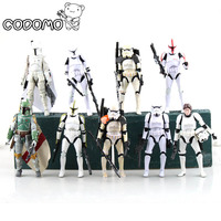 13 Colors Plastic Star War Action Figures Minifigure Game Vinyl Desk Toys Darth Vader Storm Trooper