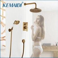 Kemaidi ванны смесители душ Античная черный шар стены скрывают Смесители для ванной комнаты набор для душа смеситель для душа комплект W/Ручная