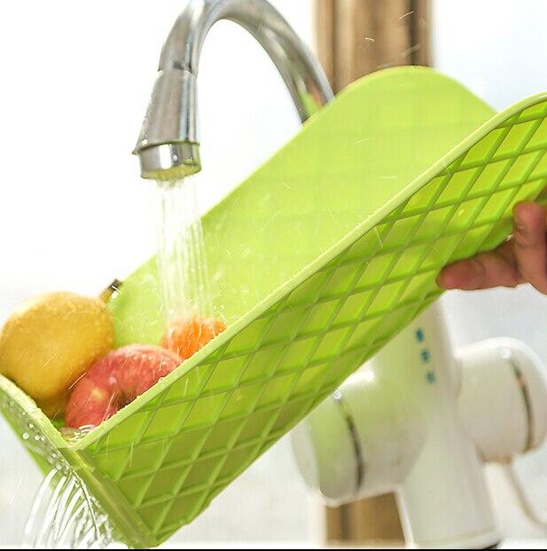 Kostenloser Versand Multifunktionale Faltbare Drain und Kunststoff-schneidebrett Schneidbretter Küche Liefert Farben Variieren (00125)