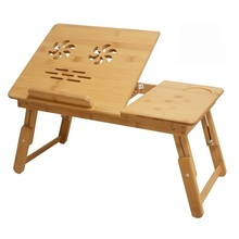 Z#7682 radiating size simple lazy folding table de long bamboo special offer notebook comter Desk on bed FREE SHIPPING