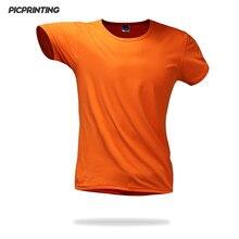 eb4d463dc 2018 New Summer Men Solid Black White Casual Tees male shirt Plain O-neck  Short Sleeve Slim T-shirt sports wear for gym T Shirt