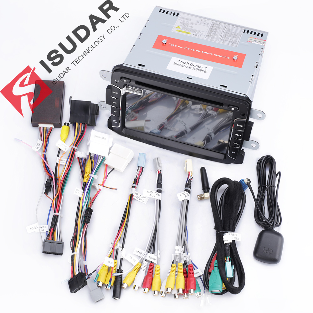 Lecteur multimédia de voiture Isudar Android 9 pour Dacia/Sandero/Duster/Renault/Captur/Lada/Xray 2/Logan 2 Auto Radio GPS 1 Din DSP DVR - 6