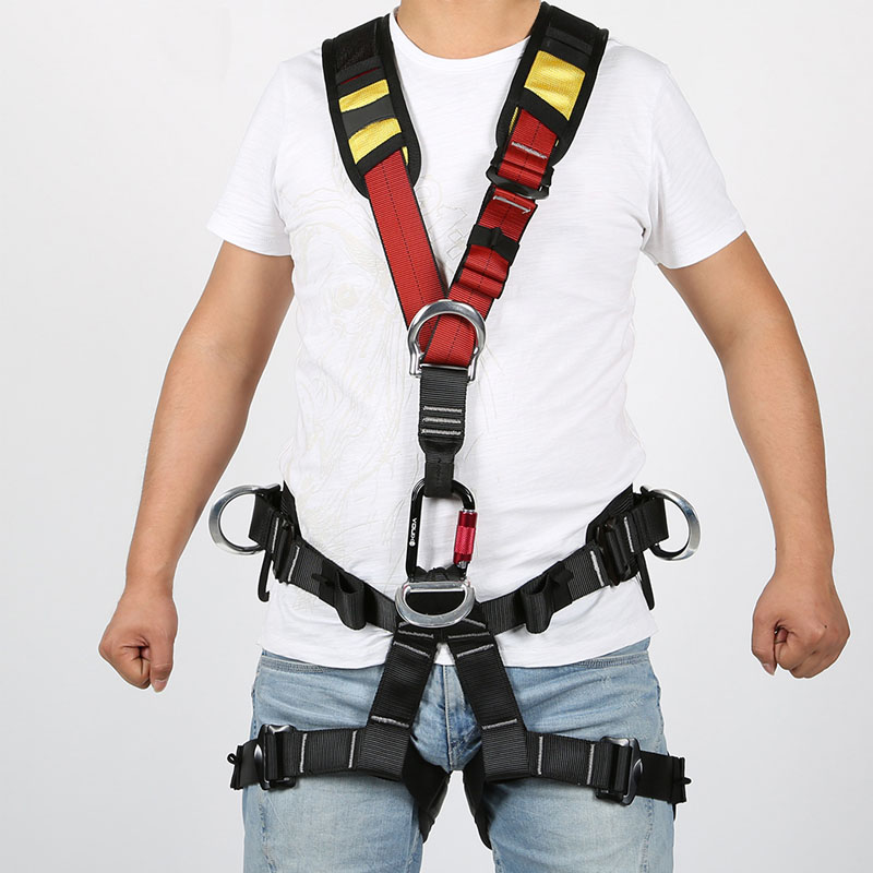 Body Safety Belt for High Altitude Operation Rock Climbing Rescue Body Safety Harness Comfortable Safe Rock Climbing Equipment - 3