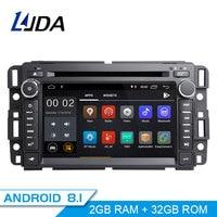 LJDA 2 Din Android 8.1 Car Radio For Chevrolet Tahoe Traverse BUICK Enclave GMC Yukon Tahoe Acadia Multimedia Stereo GPS DVD IPS