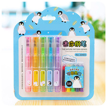 5 pcs/pack Mini Kawaii Colored Fountain Pen With Ink Sac Plastic Ink Pen For Students Writing Stationery Office School Supplies 0 35mm cute kawaii plastic calligraphy fountain pen with ink set for writing hafp0666 free shipping