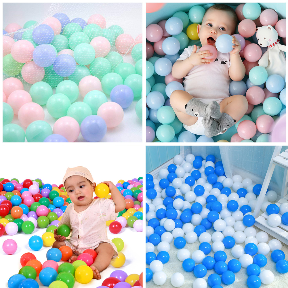 Colorful Soft Plastic Toy Ball For Kids Tent Mini Swimming Pool 25//50//100 Pieces