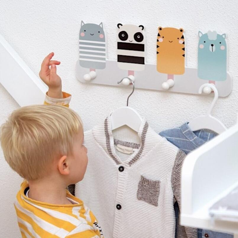 Image 4 - Children Clothing Shop Window Decoration Practical Clothes Hats Overcoat Hook Photography Props BedRoom Living Room No Nails-in Storage Holders & Racks from Home & Garden