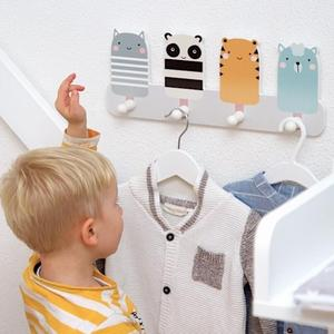Image 4 - Children Clothing Shop Window Decoration Practical Clothes Hats Overcoat Hook Photography Props BedRoom Living Room No Nails