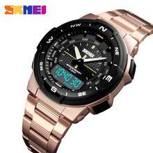 SKMEI Uhr Mode herren Sport Uhren Doppel Zeit Stoppuhr Chronograph Sport Armbanduhr Männer Alarm Uhr Herren Uhr Armband