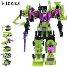 24cm Devastator Toys Transformation font b Robot b font font b Car b font Engineering Construction