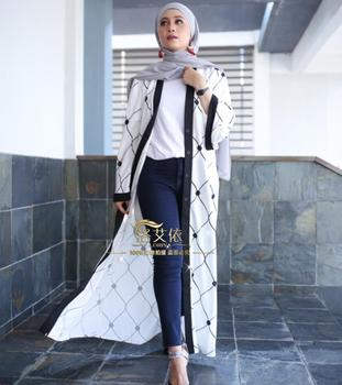 Muslim cardigan djellaba turkish women clothing long coat dubai fashion high quality cardigan outwear