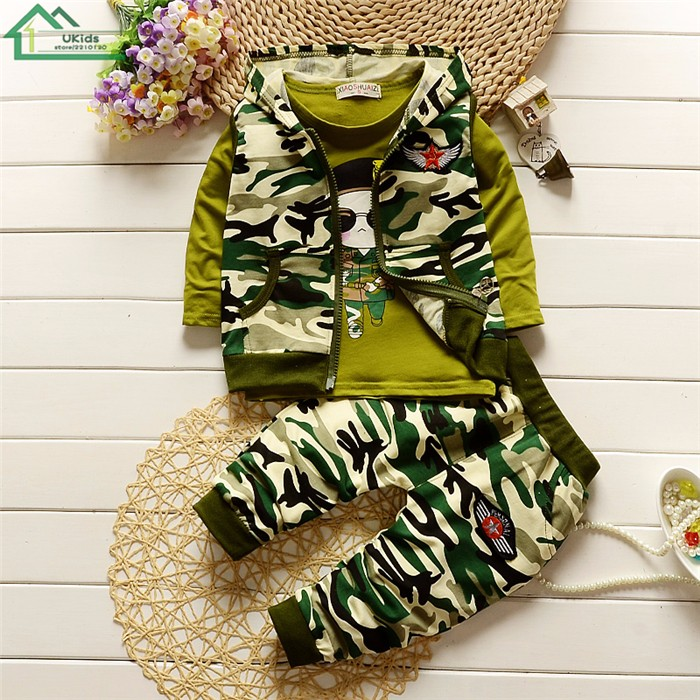 long sleeve camouflage kids clothes set4