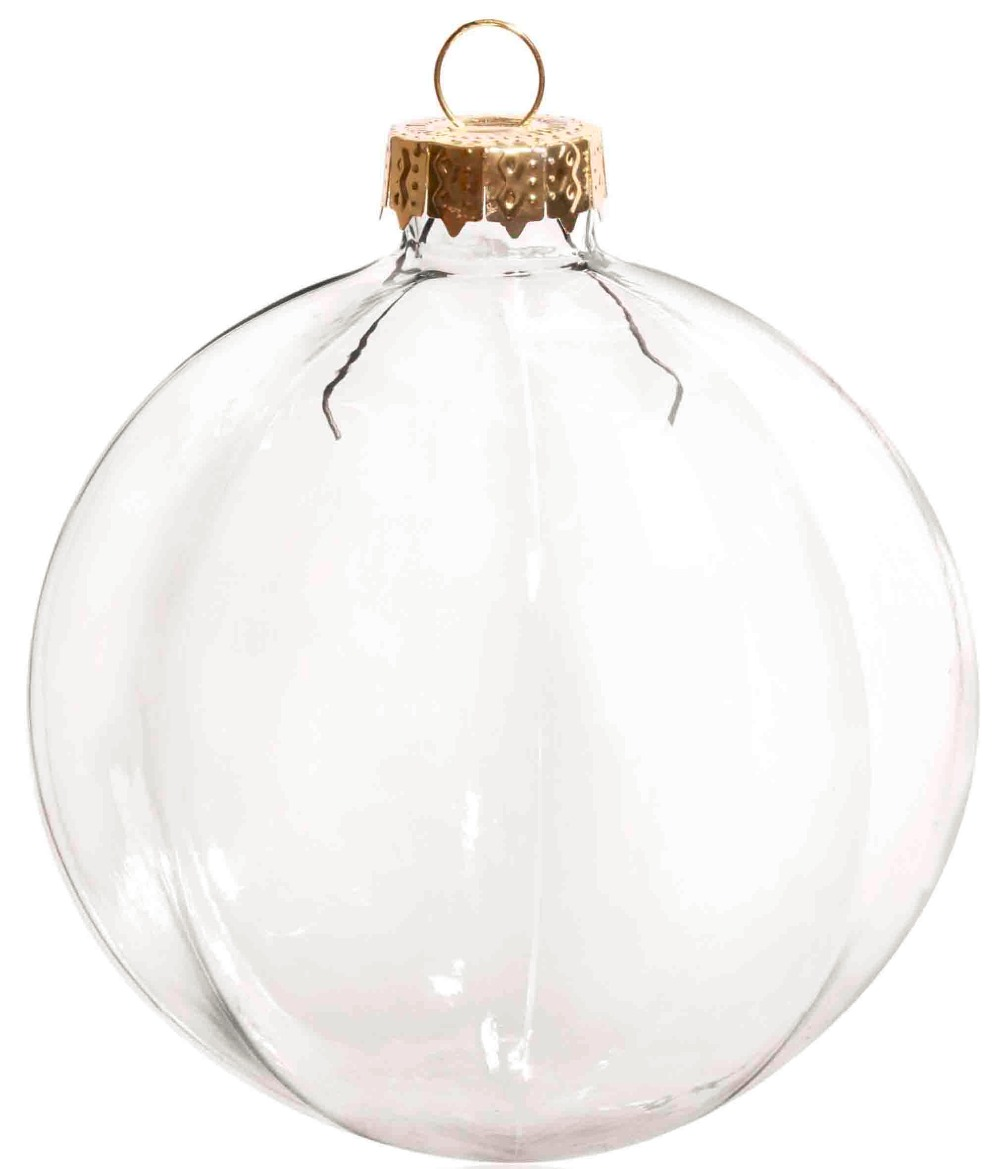 Flat glass ornaments - Promotion Diy Paintable 3 15 Inch 80mm Christmas Decoration Clear Glass Wide Strip Ornament