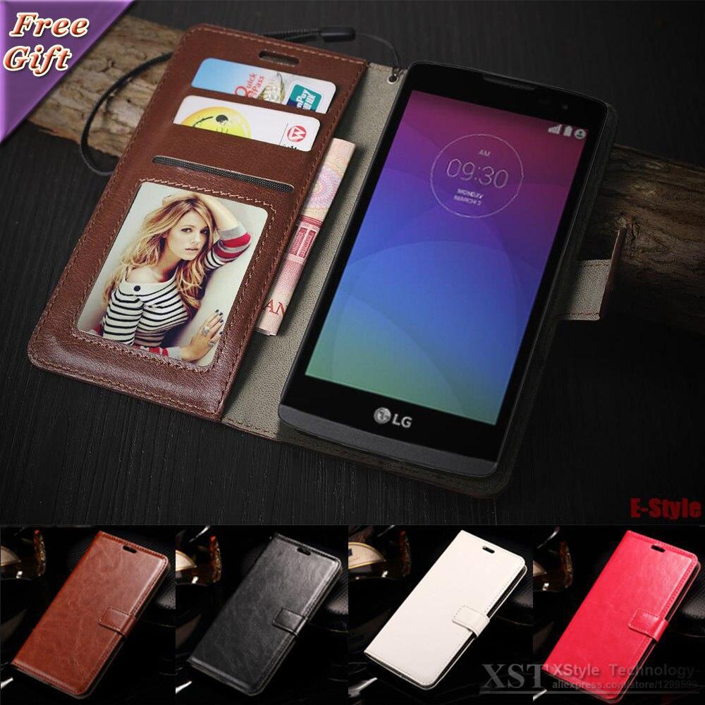 Galleria fotografica Rétro Flip Téléphone cas Pour LG Leon H340N H320 H324 LG G2 G3 LG G4 G5 LG K10 Case PU Couverture En Cuir Photo Frame Wallet Sac