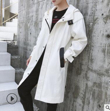 Осень 2018 новый мужской стиль длинный Стиль Тренч корейский стиль модная куртка мужская Пальто подростков красивый пальто qz 173