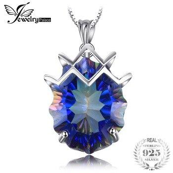 21ct Genuine Rainbow Fire Mystic Topaz Gem Stone Necklace