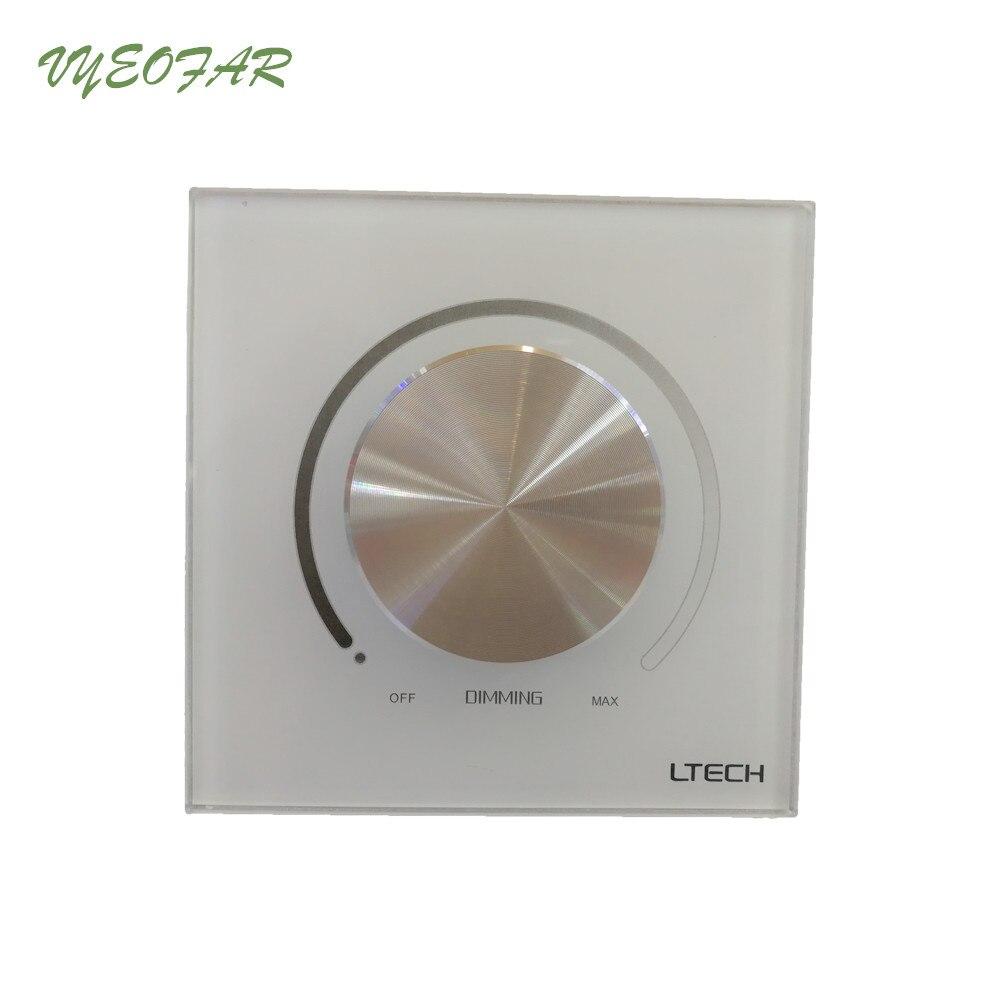 LTECH E610P AC 110 V/240 V entrée 5A puissance de commutation 0-10 V sortie manuel bouton panneau montage mural gradateur pour LED couleur simple la lumière