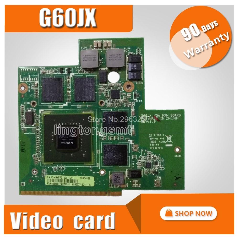 for ASUS G51 G51J G51JX G60J G60JX VGA CARD Graphic card GeForce GTS360M GTX360M 1GB rev2.0 Graphics Video Card N11E-GS1-A3 клавиатура topon top 86689 для asus a52 a52f a52j f50 f50s f50q f50z f70 f70sl g51 g51j g51jx g51v g51vx g53 g53jw g60 g60j g60jx g60v g60vx g72 g72gx g73 g73jh k52 k52de k52dr k52f k52j k52jb series black