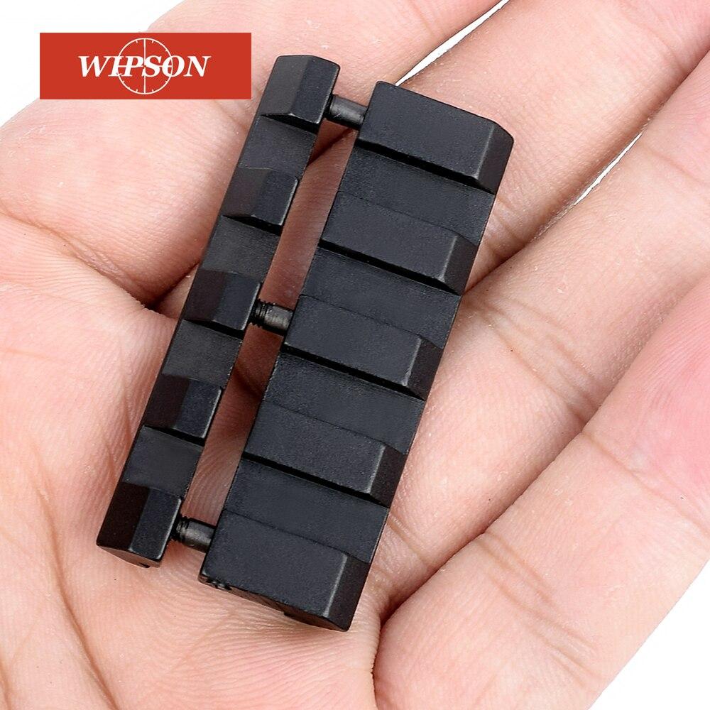 Wipson novo picatinny/weaver baixo pro snap-in adaptador caça acessórios 11mm a 20mm ferroviário caça acessórios
