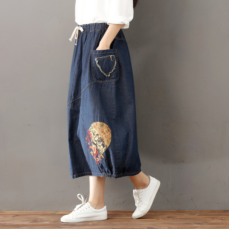 890355fa58e Falda Plisada Gonne Lunghe Jeans Pink Falda Vaquera Elegant Saia Colegial  Leren Rok Saia Longa Hippie Wrap Plus Size Women Skirt