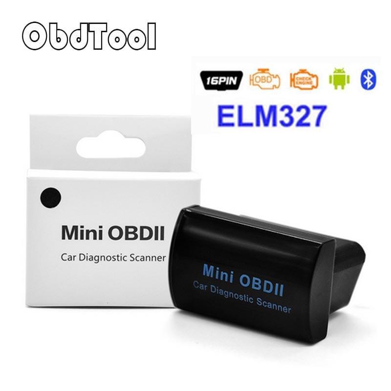 Super MINI ELM327 Bluetooth OBD/OBD2 Latest Version V2.1 MINI OBDII ELM 327 For Android Torque/PC Retail Box Pack LR5