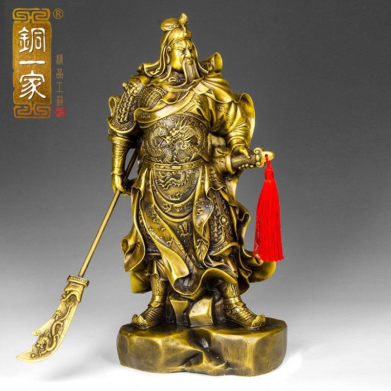 A copper copper ornaments font b knife b font bronze statue of Guan Gong Guan Fortuna