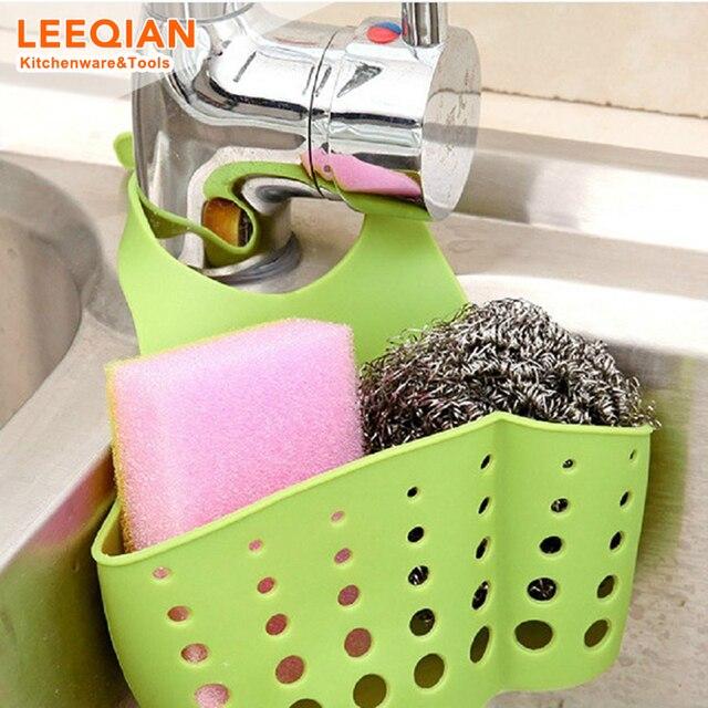3pcs Kitchen Sink Faucet Caddy Bath Hanging Organizer Sink Draining Soap Sponge Towel Holder Pocket Sink Caddy Storage Baskets 1