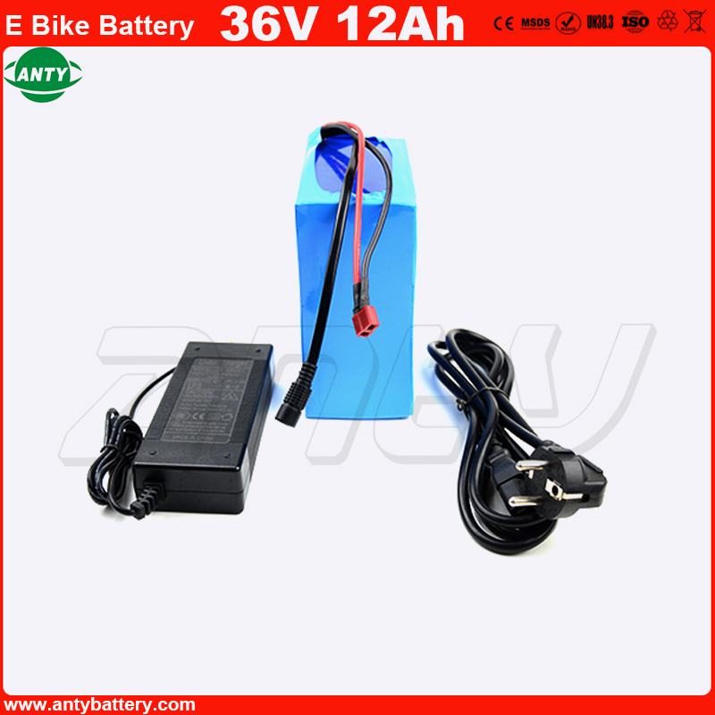 Free Shipping E-Bike Battery 36V 12Ah use 18650 Cell Built in 30A BMS for 100-800w Motor with 42v 2A Charger Lithium Battery 36v free customs fee 36v 25ah battery 1000w 36 v 25ah lithium battery pack with tail light use 2500mah 18650 cell 30a bms 2a charger