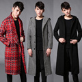 2017 big European and American Metrosexual winter coat man long coats Paris runway fashion brand