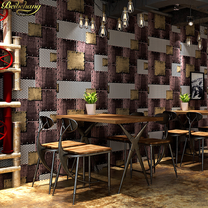 beibehang American retro bar cafe wallpaper for walls 3 d wallpaper roll wallpaper for living room TV background beibehang american retro wallpaper roll desktop living room 3d wall paper home decor tv background green wallpaper for walls 3 d